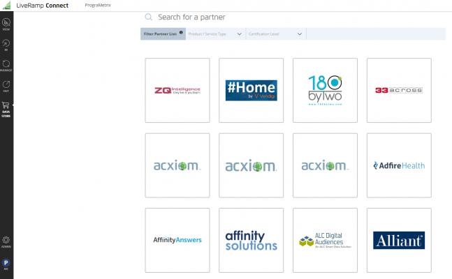 LiveRamp's IndentityLink data marketplace